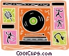 Vector Clipart illustration  of a musical design