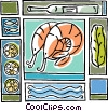 seafood, shrimp, Vector Clipart picture