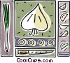 Vector Clip Art graphic  of a cooking design