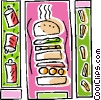 hamburger design Vector Clipart image