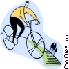 Vector Clip Art image  of a bicycling
