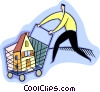 Vector Clip Art graphic  of a Shopping for a new home