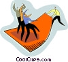 pulling the carpet out from under their feet Vector Clipart picture