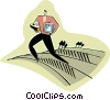 business metaphor, planting the seeds, Vector Clipart illustration