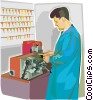 Vector Clip Art graphic  of a key maker