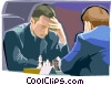 playing chess Vector Clipart graphic