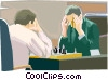 Vector Clipart illustration  of a playing chess
