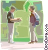 Vector Clip Art graphic  of a conversation