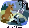 Vector Clipart illustration  of a dog