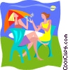 summer holidays, relaxing Vector Clipart image