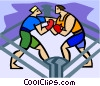 Boxers sparring Vector Clip Art picture