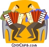 musicians Vector Clipart illustration