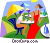Vector Clip Art image  of a summertime