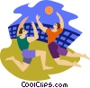 Vector Clipart illustration  of a Beach volleyball