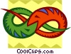 Vector Clipart graphic  of a snake design