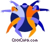 dancing Vector Clipart picture