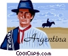 Vector Clipart illustration  of an Argentina postcard design