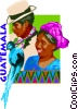 Vector Clipart graphic  of a Guatemala