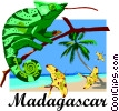 Madagascar postcard design Vector Clipart graphic