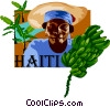 Haiti postcard design Vector Clipart illustration