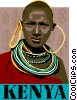 Vector Clip Art graphic  of a Kenya postcard design