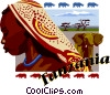 Tanzania postcard design Vector Clipart illustration