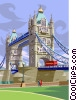 Vector Clip Art image  of a London bridge