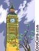 Big Ben clock Vector Clip Art picture