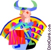 Vector Clipart illustration  of a bull fighter