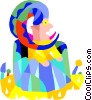 Vector Clip Art image  of a clown