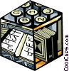 Vector Clipart picture  of a typing
