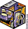 Vector Clipart illustration  of a music