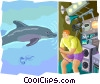 Dolphin research Vector Clipart graphic