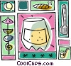cocktails, drinking, party Vector Clip Art graphic