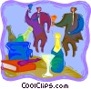 Vector Clip Art picture  of a Office party