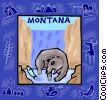 Vector Clipart graphic  of a Montana