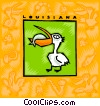 Vector Clipart illustration  of a Louisiana