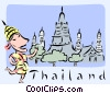 Vector Clip Art graphic  of a Thailand