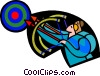 archery, bows and arrows Vector Clip Art image