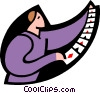 playing cards spread out Vector Clipart graphic