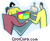 Delegating responsibility, business meetings Vector Clip Art picture