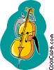 cello, man playing Vector Clipart illustration