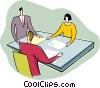 Vector Clip Art image  of a people at meeting