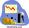 marketing report, sales on the rise Vector Clip Art picture