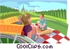 picnic Vector Clipart graphic