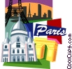 Vector Clipart image  of a Paris motif