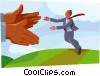 Vector Clipart illustration  of a business metaphor