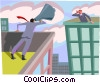 business metaphor, loud speaker Vector Clipart picture