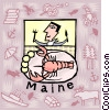 Vector Clip Art image  of a Maine