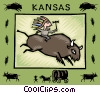 Vector Clipart picture  of a Kansas